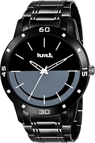 Black Dial Analogue Wrist Watch