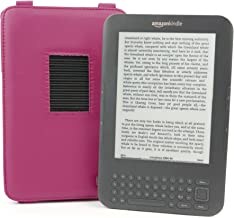 DURAGADGET Pink PU Leather Case/Cover With Adjustable Stand For Amazon Kindle 3 (Keyboard)