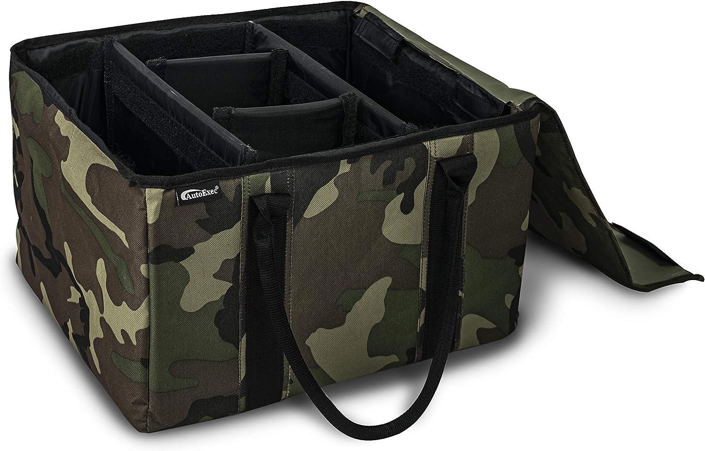 AutoExec AUE14010 File Tote Organizer Green Camouflage