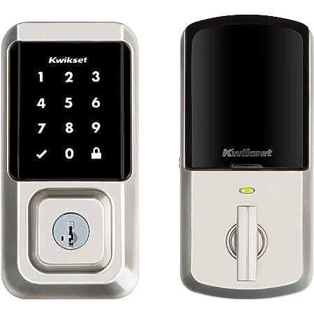 Kwikset 99390-001 Halo Wi-Fi Smart Lock Keyless Entry Electronic Touchscreen Deadbolt Featuring SmartKey Security, Satin Nickel