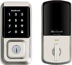 Kwikset 99390-001 Halo Wi-Fi Smart Lock Keyless Entry Electronic Touchscreen Deadbolt Featuring SmartKey Security, Satin N...