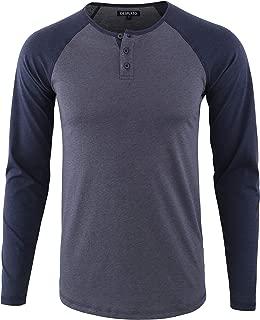 Men's Casual Basic Active Sports Raglan Long Sleeve Baseball Tee Shirt