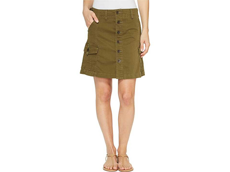 Jag Jeans Boardwalk Button Front Skirt in Bay Twill (Hedge) Women