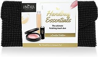 Inika Handbag Essentials Kit, Beauty Gift Sets, Certified Organic Lip Serum (5ml), Certified Organic Cream Illuminisor Rose (4g), Party Clutch