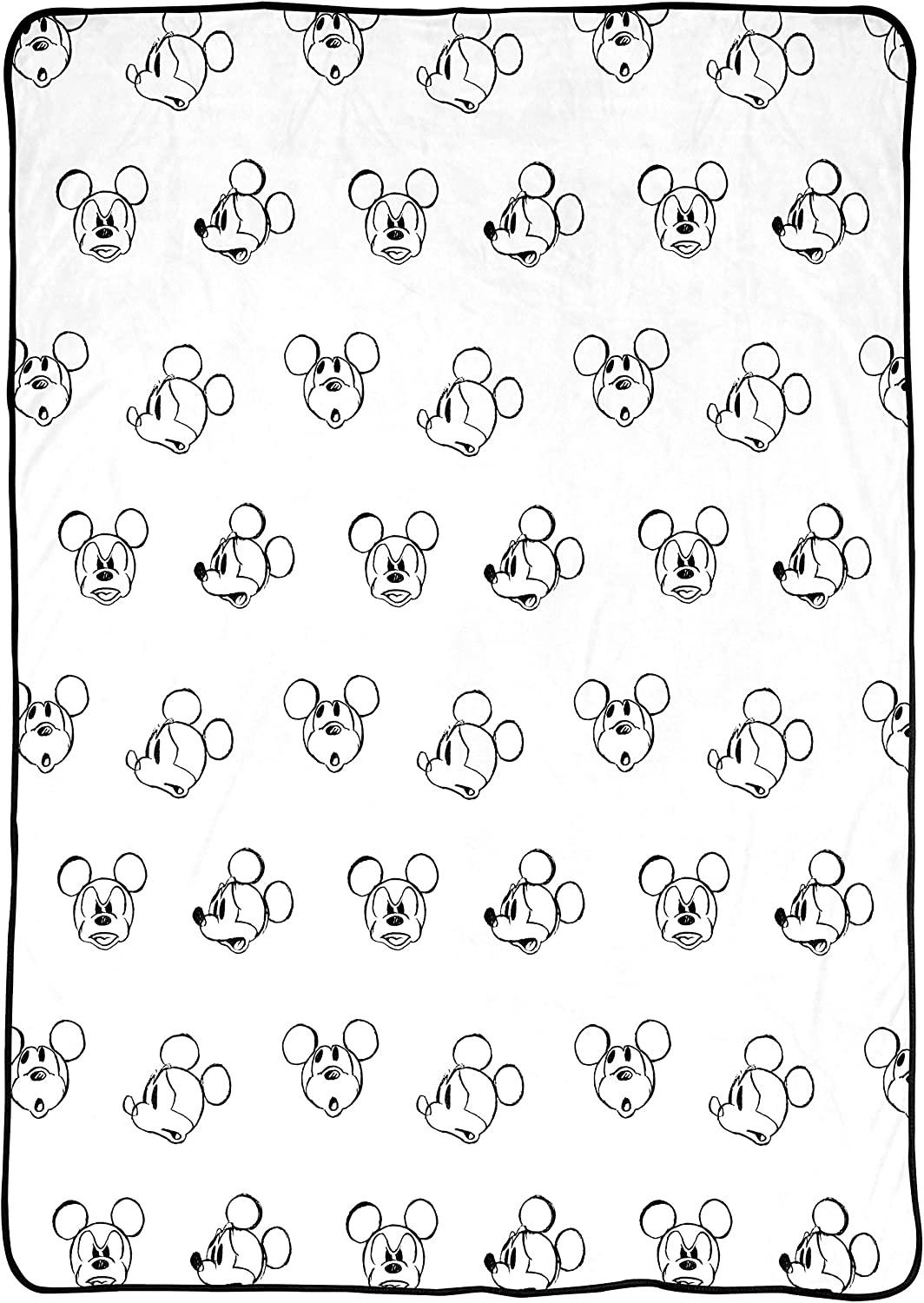 Disney Mickey Mouse Faces Blanket - x inches Measures 90 60 Ranking integrated 1st Shipping included place Bed