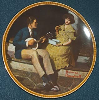 "Norman Rockwell: ""Pondering on the Porch"" Rediscovered Women Series--Authentic Registered Collector Plate"