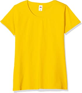 Fruit of the Loom Valueweight 5 Pack, T-Shirt Donna