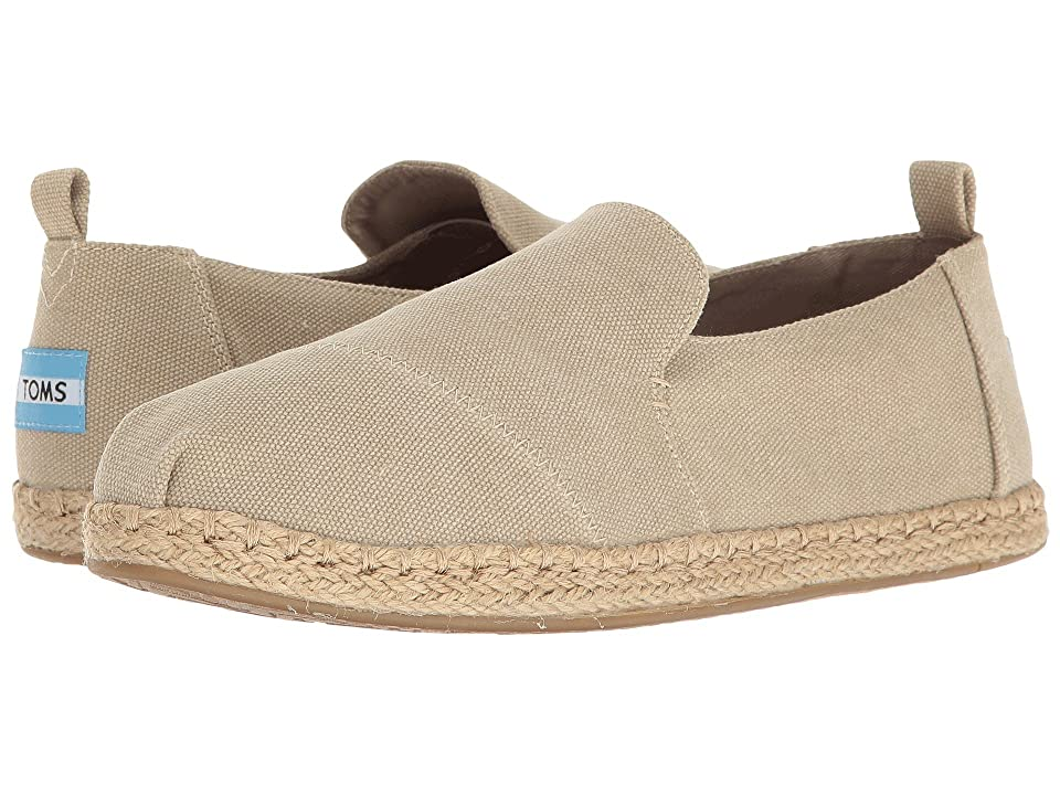 TOMS Deconstructed Alpargata (Desert Taupe Washed Canvas) Women
