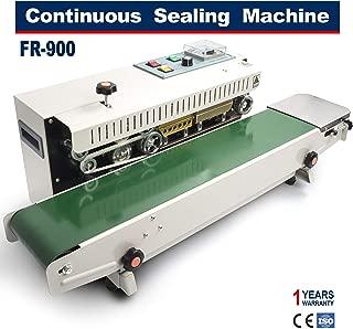 Sumeve Continuous Sealing Machine FR-900 Automatic Horizontal Continuous Plastic Bag Band Sealing Sealer Machine Stamp Coding