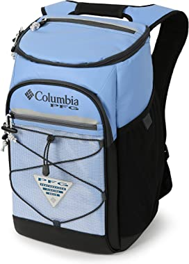 Columbia PFG Roll Caster 30 Can Insulated Backpack Cooler, White Cap