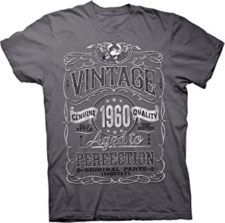 60th Birthday Gift Shirt - Vintage Aged to Perfection 1960 - Distressed