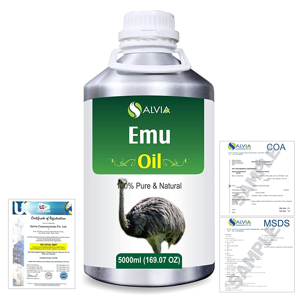 ボタンタイヤ必要Emu 100% Natural Pure Oil 5000ml/169fl.oz.