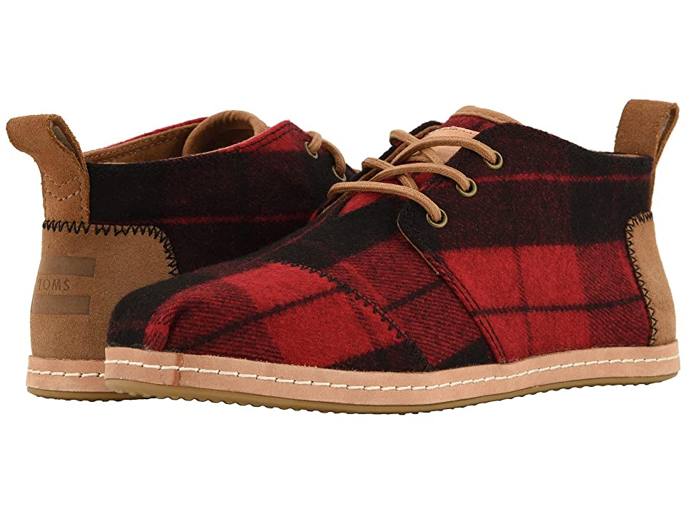 TOMS Bota (Red Plaid Felt) Women