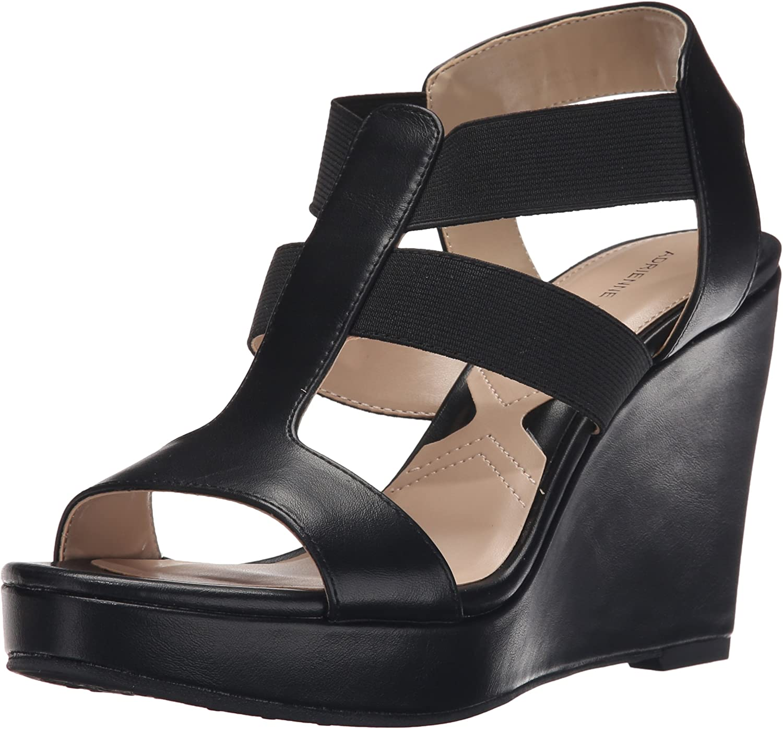 Adrienne Vittadini Womens Cleve Wedge Sandal