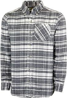 Mossy Oak Flannel Shirt for Men, Buffalo Plaid Long Sleeve Mens Flannel Shirts