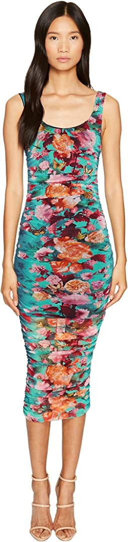 FUZZI - Fitted Sexy Flower Print Dress