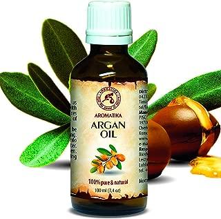Argan Oil - Argan Oil for Face 3,4 Oz - Organic Argan Oil for Hair - Pure Argan Oil of Morocco - Argania Spinosa Kernel Oil - 100% Cold Pressed Argan Oil 100 ml - by Aromatika