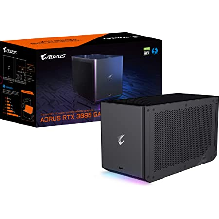 AORUS RTX 3080 Gaming Box External Graphics Card, WATERFORCE All-in-one Cooling System, Thunderbolt 3, GV-N3080IXEB-10GD