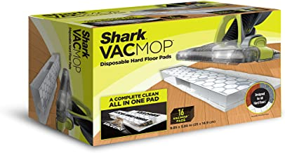 Shark VACMOP Disposable Hard Floor Vacuum and Mop Pad Refills 16 Count, White
