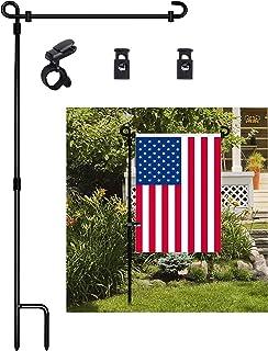 Garden Flag Stand, Premium Garden Flag Pole Holder Metal...