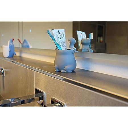 Winkee - Bicchiere portaspazzolino Hippo, divertente porta spazzolino per bambini e neonati, 10 x 10 x 13,5 cm