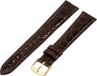 Hadley-Roma Men`s 20mm Leather Watch Strap, Color:Brown (Model: MS2001LB-200)