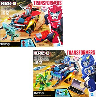 Hasbro Kre-O Transformers Robots in Disguise Twin Pack: Sideswipe Roadway Rundown & Strongarm Capture Cruiser
