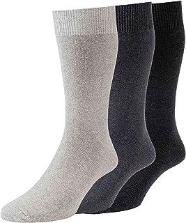 HJ Hall Classic Plain Knit Socks 6-11 3 pair pack HJ71136