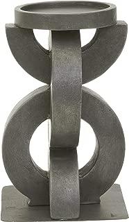 kieragrace Railtown Harris Aged Steel Resin, 7.5-Inch Tall Candleholder