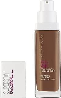 Maybelline Super Stay Full Coverage Liquid Foundation Makeup, Mocha, 1 Fl Oz