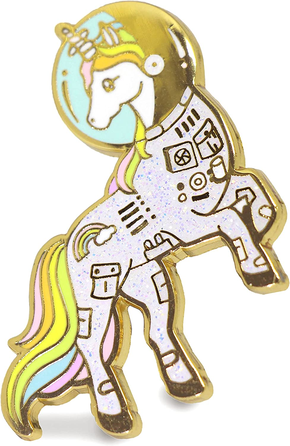 Unicorn Limited time for free shipping Enamel Pin Astronaut Space Colorful La In a Suit Discount mail order