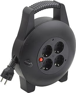 Meister Kabelbox H05VV-F3G1,5, IP20 - 10 m Kabel - Thermoschutz-Schalter - Indoor / Kabelrolle mit 4 Steckdosen / Kabelbox mit Verlängerungskabel / Leitungsroller mit Kurbel / 7435820