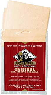 Authentic Sports Shop Gold Gorilla Non-Toxic Natural Grip Enhancer for Sweaty Wet Hands, Gloves, Bats, Clubs, Rackets (Softball, Baseball, Golf, Tennis, Football. Approved for ASA Pitchers)