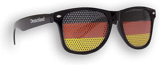 Brille /Ε/λ/λά/ς /Ε/λ/λά/ς Sonnenbrille Fan Artikel 1 x Fanbrille Griechenland Wei/ß Greece