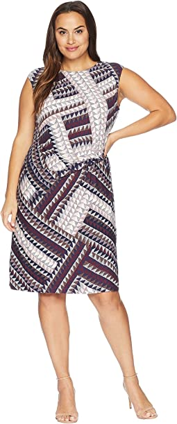 Plus Size Elegant Edit Twist Dress