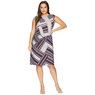 NIC+ZOE Plus Size Elegant Edit Twist Dress (Multi) Women