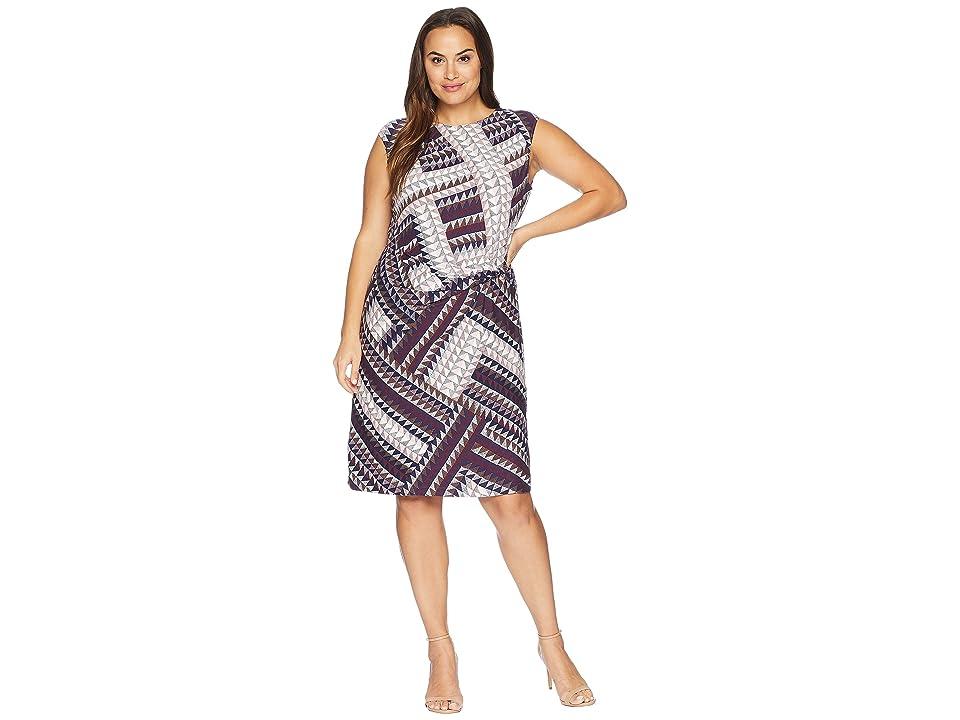 NIC+ZOE Plus Size Elegant Edit Twist Dress (Multi) Women