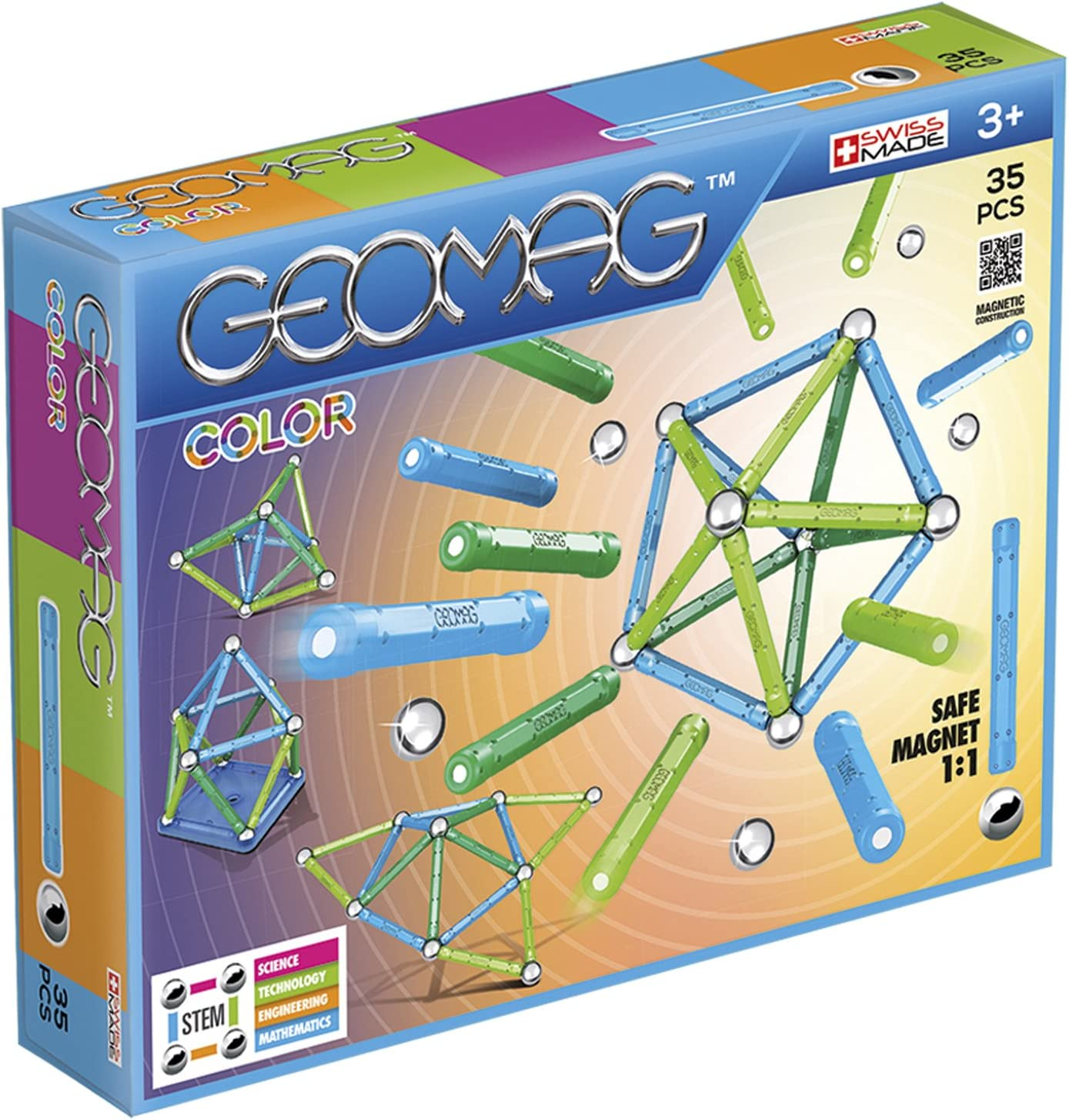 Wholesale Geomag - COLOR National uniform free shipping 35-Piece Magnetic Set STEM Certified Building