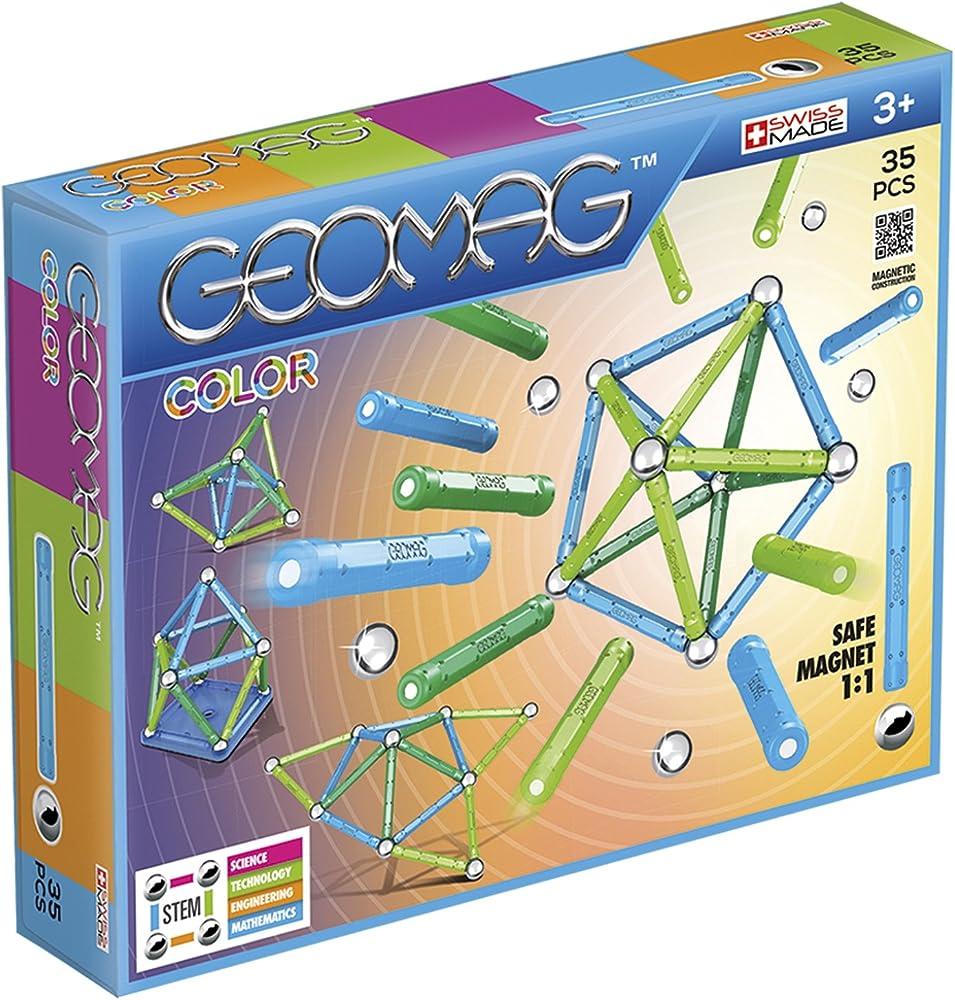 Geomag- color gioco di costruzione con sfere e barrette, multicolore, 35 pezzi 261