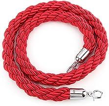 Ruban et poteaux absperrungsseil cordon 1,5 m corde pour barri/ère noir