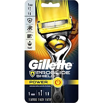 Gillette ProGlide Shield Power Men's Razor Handle + 1 Blade Refill