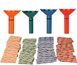 Coin Counters & Coin Sorters Tubes Bundle of 4 Color-Coded Coin Tubes and 100..