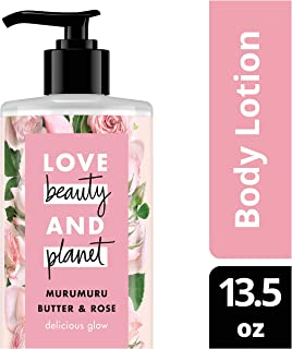 Love Beauty and Planet Murumuru Butter & Rose Body Lotion, Delicious Glow, 13.5 oz