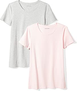 Amazon Essentials Women s 2-Pack Short-Sleeve Crewneck T-Shirt 958b4c54b809