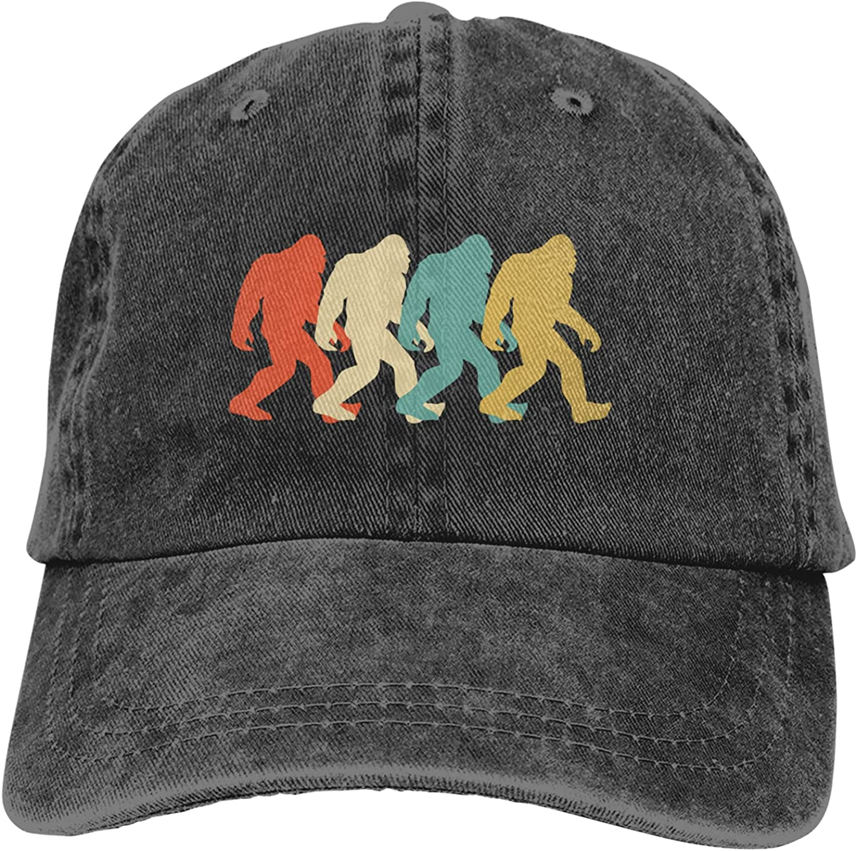 CUTEDWARF Bigfoot Unisex Adjustable Cotton Baseball Hat Cowboy Cap Dad Hats Denim Trucker Hat