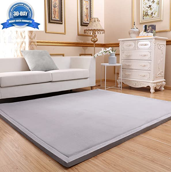 3CM Thickness Baby Toddler Kid Play Mat Floor Mat Crawling Mat Grey Foam Mat Yoga Mat Exercise Mat For Home Decor Play Room Living Room Bedroom Zero Formaldehyde Non Toxic 79 By 98 Inch