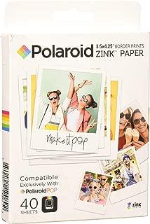 Polaroid 3.5 x 4.25 inch Premium Zink Border Print Photo Paper (40 Sheets) Compatible with Polaroid POP Instant Camera