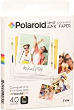 Polaroid 3.5 x 4.25 inch Premium Zink Border Print Photo Paper (40 Sheets) Compatible with Polaroid POP Instant Camera
