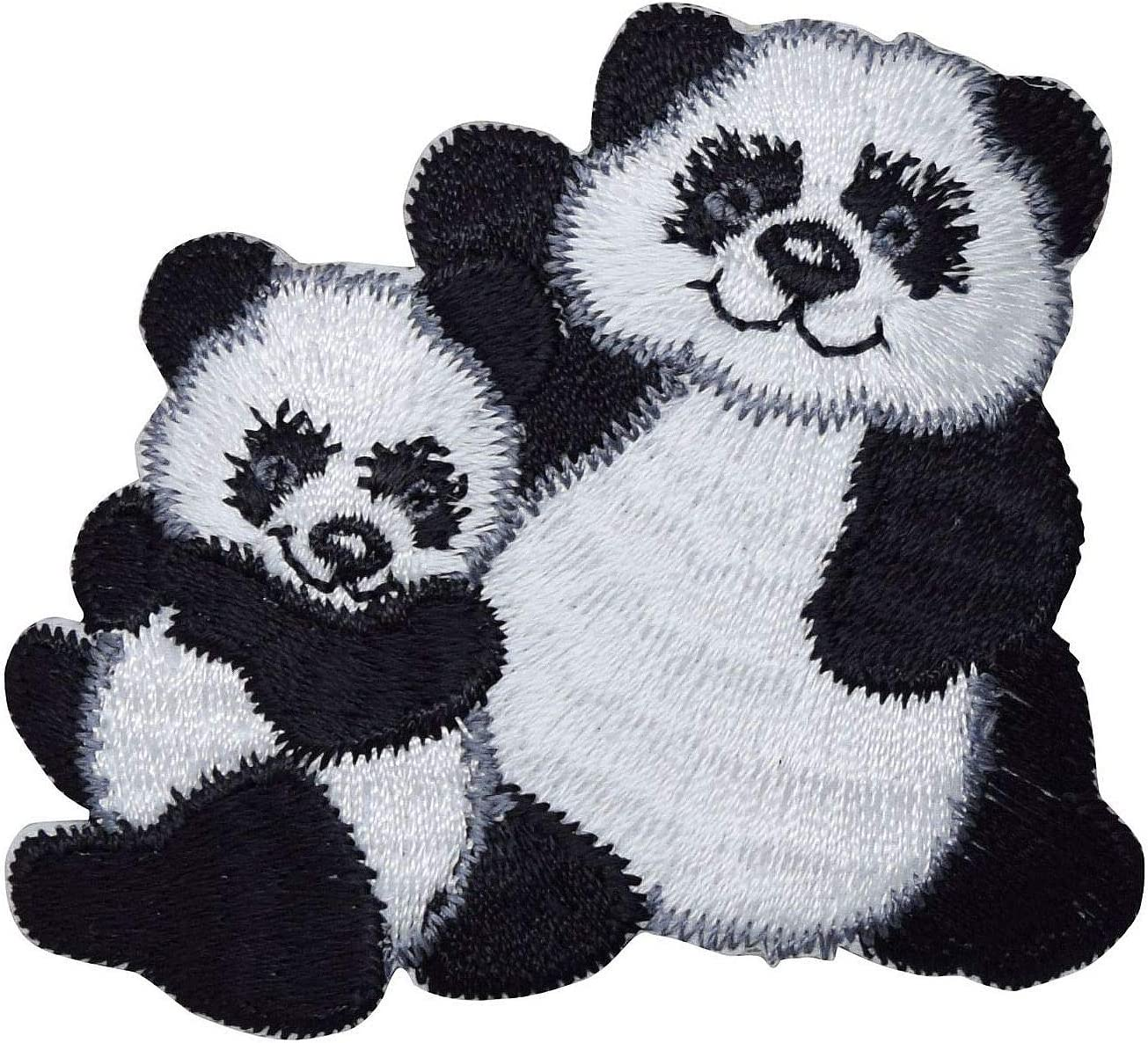 Panda OFFicial shop Bear with Fresno Mall Cub - Embroidered Patch Animals on Iron