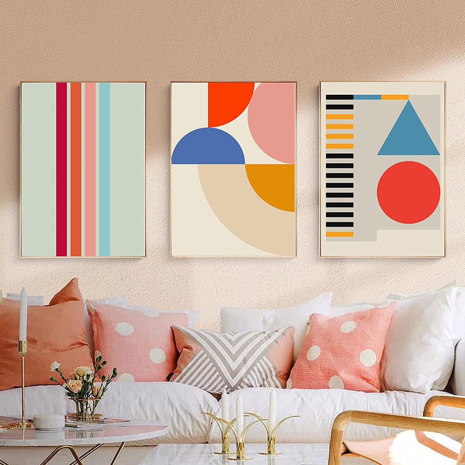 YQLKC Creative Art Pattern Poster Geometric Line Abstract Canvas Quality inspection supreme
